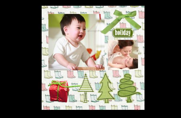 欢乐假日可爱卡通-8x8印刷单面水晶照片书21P