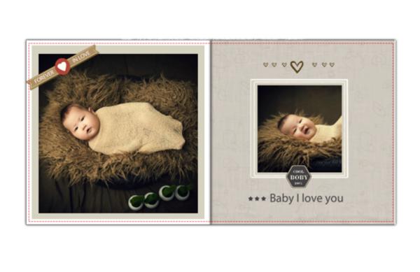 欧式古典baby影集-GOOD BABY-贝蒂斯8X8照片书
