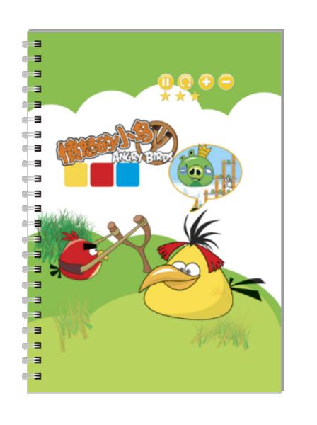愤怒的小鸟-a5笔记本定制图片