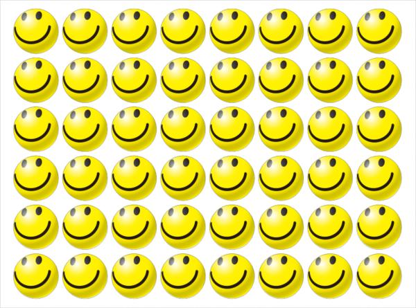 笑脸3d表情-定制圆形封口贴(48个)图片