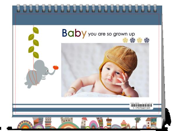 我的baby快快长大--亲子照 婴儿 宝贝 童年-8寸单面印刷台历