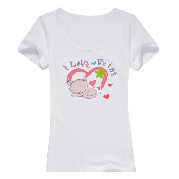甜蜜的梦女款纯棉白色T恤