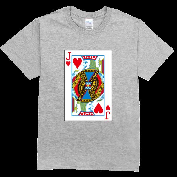 扑克牌红桃j舒适彩色t恤