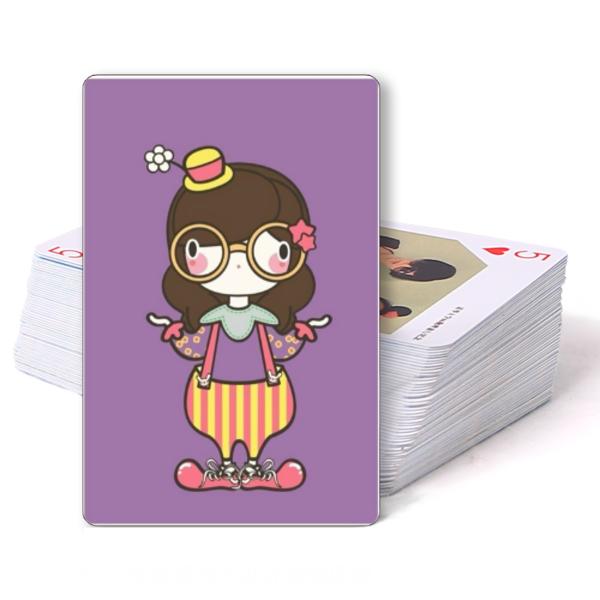 可爱 扑克牌/可爱小丑女孩/双面定制扑克牌