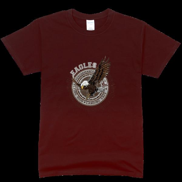 老鹰标志高档彩色t恤