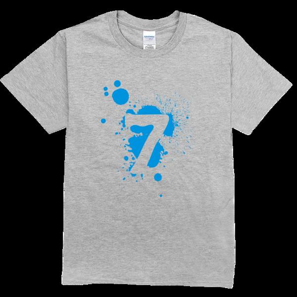 七班班服幸运数字7舒适彩色t恤图片