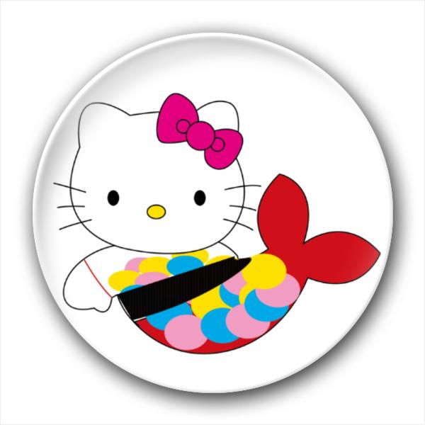 卡通 自由/HELLO KITTY(美人鱼版)/4.4个性徽章