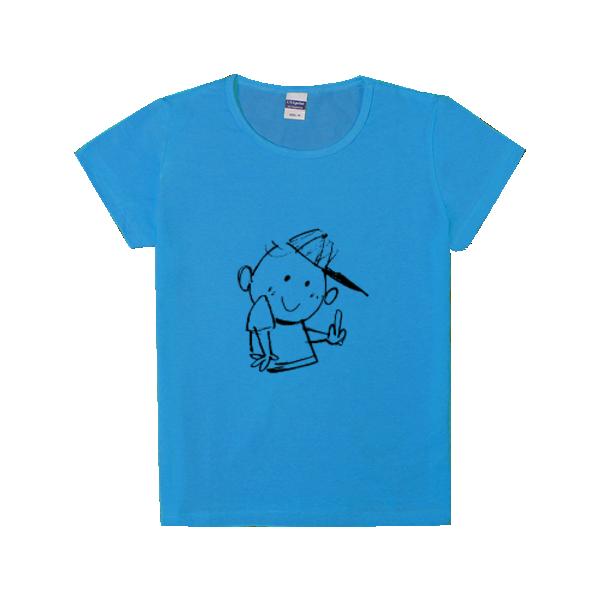 图图简笔画-时尚童装修身t恤