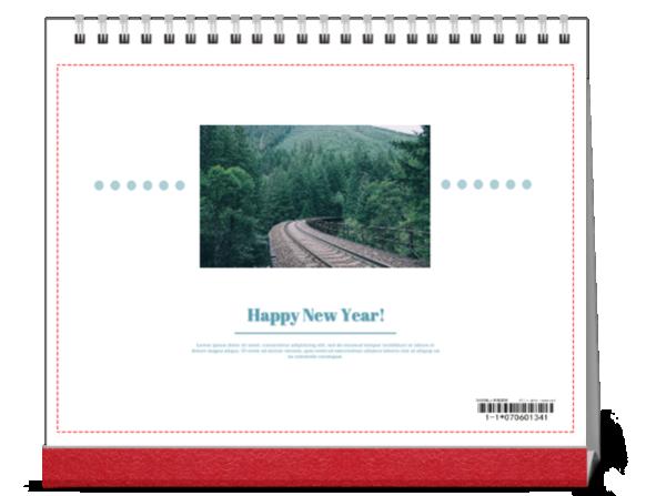 happy nwe year#-10寸单面印刷台历
