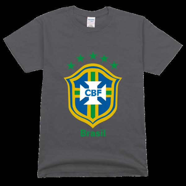 巴西队 队徽高档彩色t恤图片