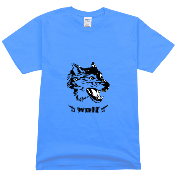 霸气狼头潮流图像舒适彩色t恤图片