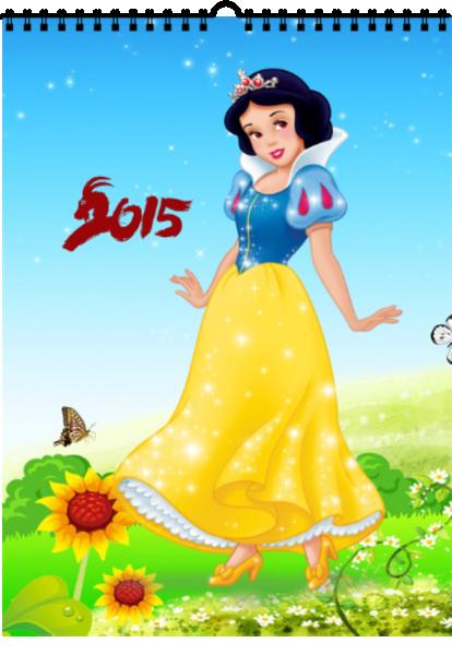 迪士尼经典公主-a4挂历图片