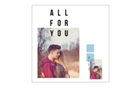 All For You 只为你(爱情纪念册)高档原创欧美经典精品自由DIY-8x8印刷单面水晶照片书