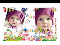 聪明宝贝益智照片书男女宝宝通用-8x12对裱特种纸30p套装