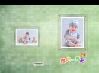 一百天宝宝(封面图片可换)-硬壳精装照片书30p(亮膜)