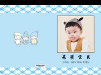呆萌宝贝(可爱、萌娃、儿童、亲子、卡通、封面图文可换)-8x12对裱特种纸20p