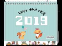 新年 可爱 宝宝#-8寸单面印刷台历