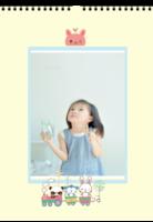 可爱宝贝 卡通乐园 儿童成长纪念册 周岁生日纪念 幼儿园毕业纪念 图文可替换-A3双月挂历