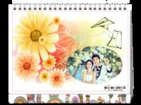 花之恋-唯美小清新(样图可换)-8寸单面印刷台历