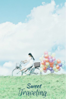 甜蜜旅行-旅游纪念-装饰可移动、图片可换-24寸木版画竖款