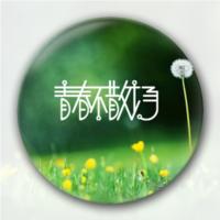 夏天不说再见 青春永不散场  创意毕业纪念礼物-5.8个性徽章