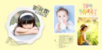 高端简洁宝宝相册可爱成长-8x8银盐PU照片书NewLife