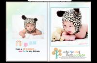 成长的点滴 儿童 幼儿 清新可爱 影楼风格(字、图、相框可更改加减)-8x12照片书