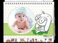可爱卡通女孩(封面照片可替换)-8寸双面印刷台历