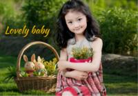 Lovely baby 可爱宝贝 亲爱的宝贝 萌宝成长记6171525-20寸木版画横款