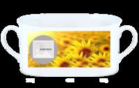 靓丽葵花-骨瓷白杯