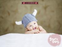 可爱韩风-宝贝的百天纪念 祈愿宝宝长命百岁-40寸横式木版画