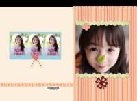 童年故事(封面封底图片可替换)-精装硬壳照片书32p
