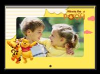 小熊维尼-儿童友情男童可爱卡通动漫亲子全家福-A3横款挂历