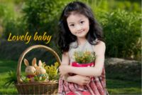 Lovely baby 可爱宝贝 亲爱的宝贝 萌宝成长记6171524-24寸木版画横款