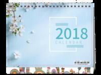 清新文艺台历-8寸单面印刷台历