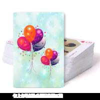 彩色气球-双面定制扑克牌