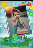 X8年历 挂历 卡通宝贝亲子 儿童童年成长-(微商)A3单月挂历