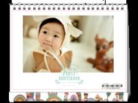 幸福的宝贝-8寸单面印刷台历