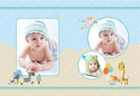Happy Baby-快乐宝贝-8X12锁线硬壳精装照片书—32p