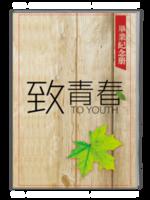 致青春-个性木质毕业纪念册-A4杂志册(32P)