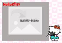HELLO KITTY-彩边拍立得横款(6张P)