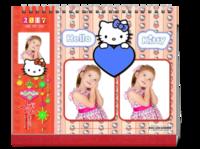 我的最爱_可爱的hello kitty---照片可换-10寸双面印刷台历
