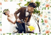 唯美小清新文艺手绘花朵婚礼爱情宝宝-彩边拍立得横款(6张P)