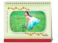 花一样的年纪--童年成长 可爱 甜美 儿童 宝贝-10寸单面印刷台历