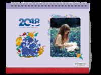 2018年-清新简约风台历-亲子、爱情、青春等均适用-10寸双面印刷台历