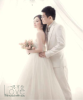 一路有你—婚纱、爱情、闺蜜、友谊(装饰可移动、图片可换)-12X10寸木版画竖款
