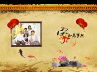 家和万事兴 温馨全家福(家人 一家人 聚会 爱 )封面可换-8x12对裱特种纸22p