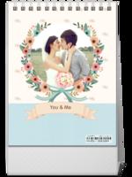 爱的花嫁-照片可替换-等风也等你-8寸竖款单面台历