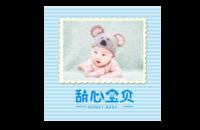 甜心宝贝 儿童 萌娃 宝贝 照片可替换-8x8印刷单面水晶照片书21P