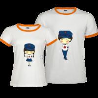 情侣装,可爱,个性-撞色情侣装纯棉T恤